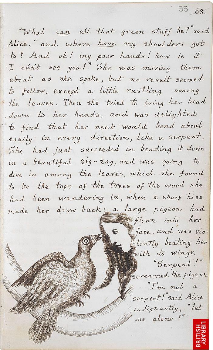 Page 63 ~ Original Manuscript Alice's Adventures Underground