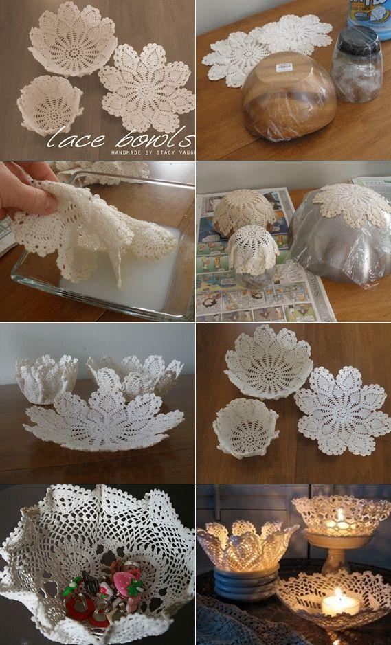 lace bowls tutorial