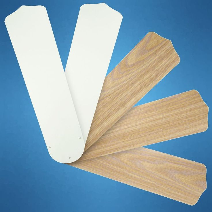 """Antique White / Rustic Oak. Side B - Rustic Oak. Reversible Fan Blades let you choose the perfect finish. for 52"""" Ceiling Fan. with Reversible Veneers Fit most 52"""" ceiling fans. Ideal for replacing old, warped or broken fan blades.   eBay!"""