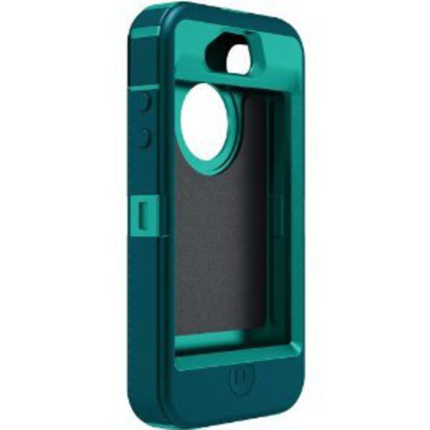 Otterbox Defender Series Hybrid Case & Holster for iPhone 4 & 4S - Retail Packaging - Light Teal/Deep Teal