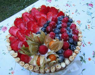 Moje tvořeníčko...: Ovocný dort k narozeninám