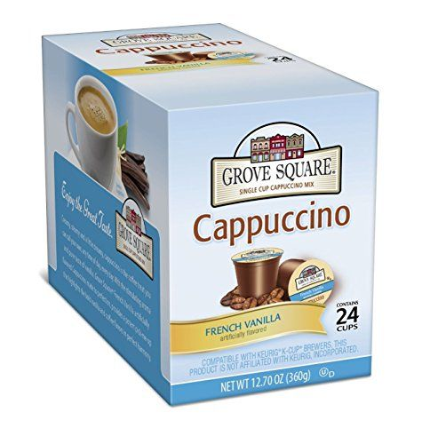 Grove Square Cappuccino, Single Serve Cup for Keurig K-Cup Brewers - http://www.freeshippingcoffee.com/k-cups/grove-square-cappuccino-single-serve-cup-for-keurig-k-cup-brewers/ - #K-Cups