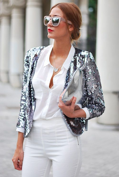 Sparkling Moonlight ( Sequins Jackets & Shirts & Blouses )