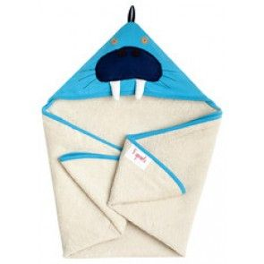 3 Sprouts - Hooded Towel - Blue Walrus