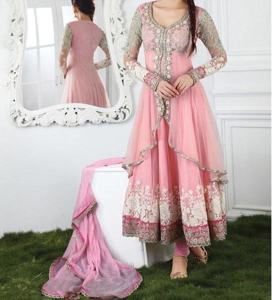 LadyIndia.com # Salwar Suit Duptta Set, Dresses for Women New Arrival Salwar Suit Pink Designer Anarkali Suit, Unstitched Suit, Salwar Suit Duptta Set, Dress Material, Anarkali Dress, Straight Suit, https://ladyindia.com/collections/ethnic-wear/products/dresses-for-women-new-arrival-salwar-suit