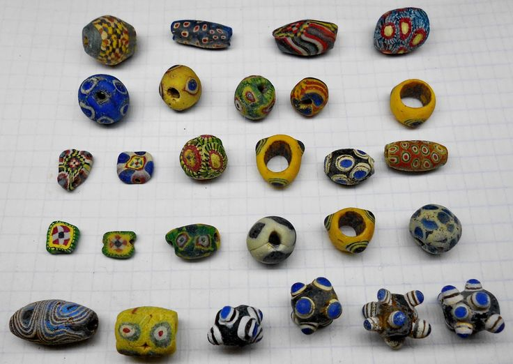 Superb Ancient Antique Islamic or Byzantine mosaic Glas Color Beads