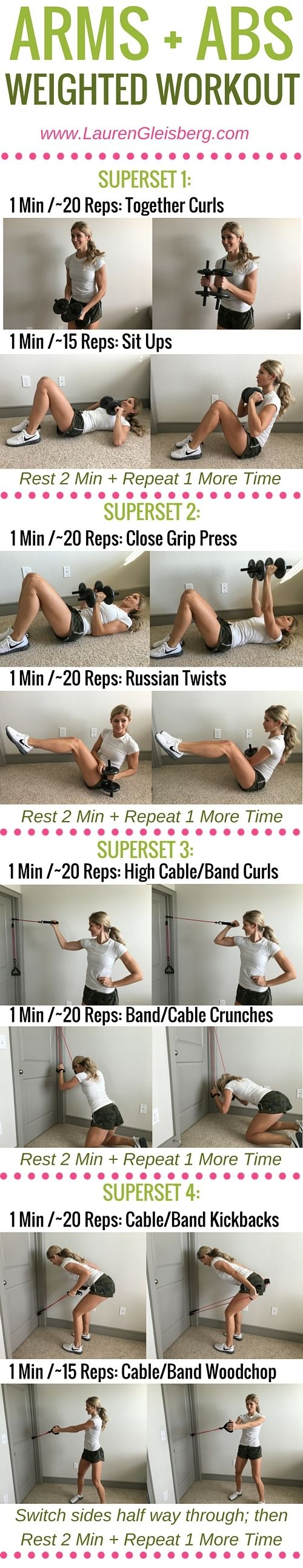 Week 3 Day 2 | Home & Gym Version | Arms + Abs Weighted Workout | #LGFitmas Lauren Gleisberg