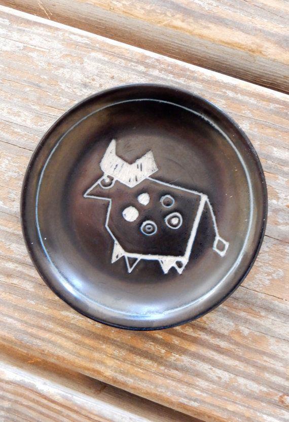 1950s Arabia Finland Torro Bull Dish Tarina by TooArtfulForYou