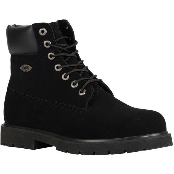 Lugz Drifter 6 ST Men's Black Boot ($80) ❤ liked on Polyvore featuring men's fashion, men's shoes, men's boots, men's work boots, black, mens boots, mens lace up boots, mens rugged boots, mens steel toe work boots and mens work boots