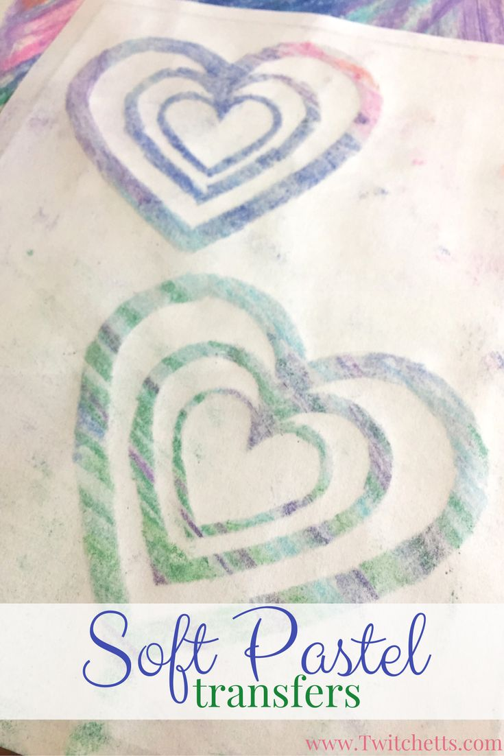 Soft Pastel Transfers.  Soft pastels for beginners. Ths pastel technique is the perfect way to introduce pastels to kids. Includes a free template to help your little one create their pastel art.