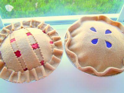Super cute felt pies no tut