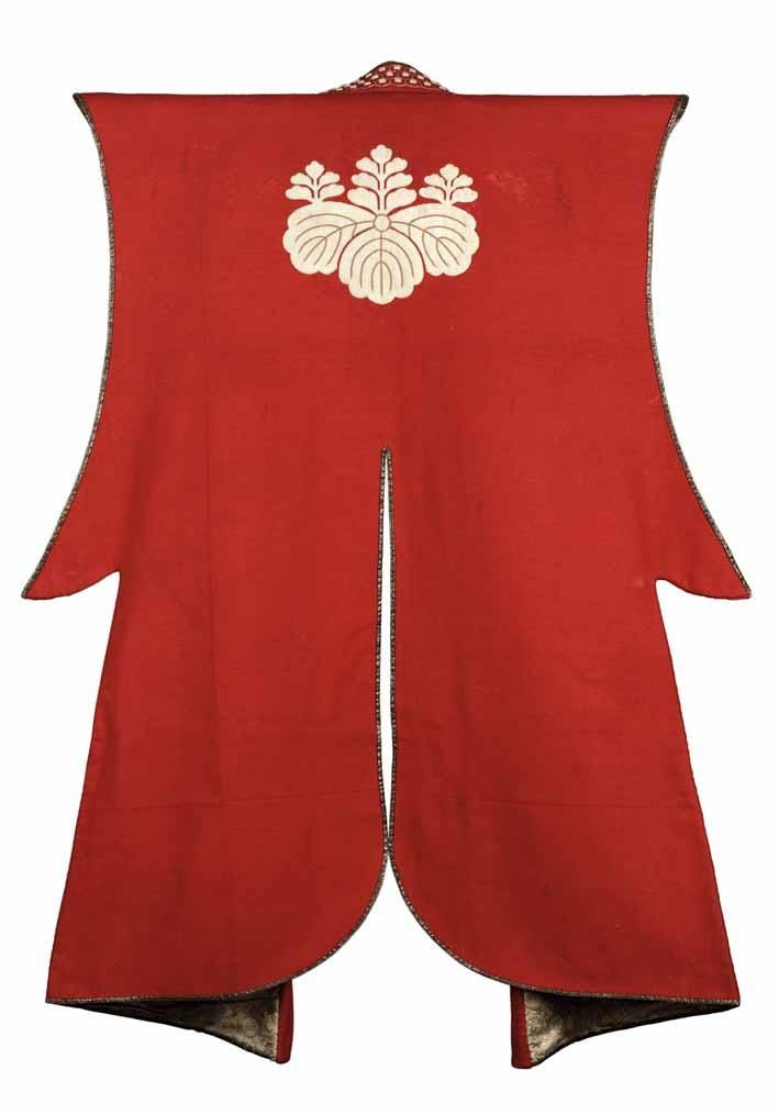 Surcoat (jinbaori), mid Edo period, 18th century, wool, silk, brocade…