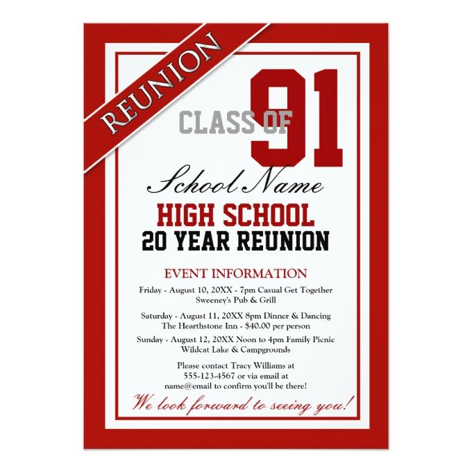 1494 best Reunion Party Invitations images on Pinterest Party - class reunion invitations templates