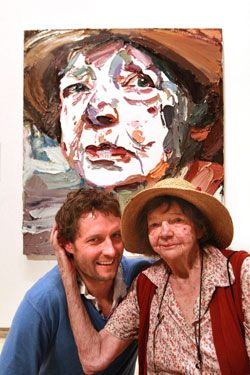 2011 Archibald  Prize winner Ben Quilty and Margaret Olley
