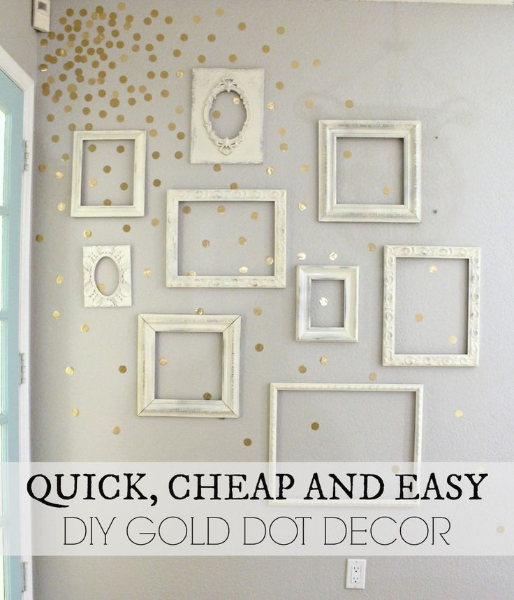 Quick, Cheap and Easy Gold Wall Decor - www.classyclutter.net