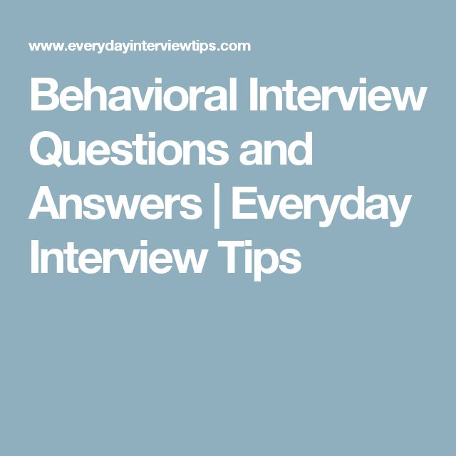 Best  Behavioral Interview Questions Ideas On
