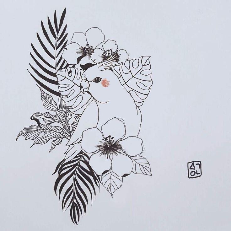 #haeyum #illustration #illust #drawing #artwork #animal #flower #Plants…