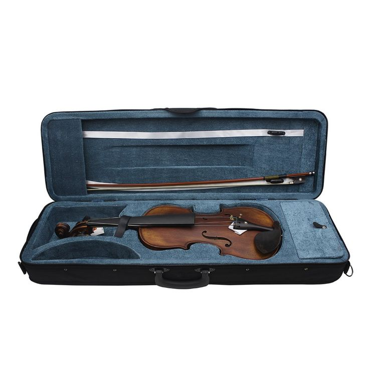 Only US$118.03, yellow 4/4 Full Size Handcrafted Solid Wood Acoustic Violin Fiddle - Tomtop.com