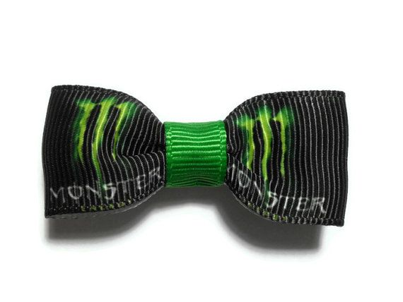 2 in Monster Energy Drink Hair Bow