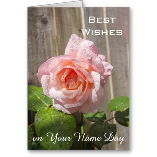 A beautiful name day card with customizable wishes inside.