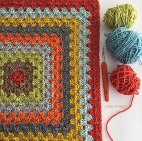 Eight-by-Six: Orla Kiely Inspired Granny Blanket pattern