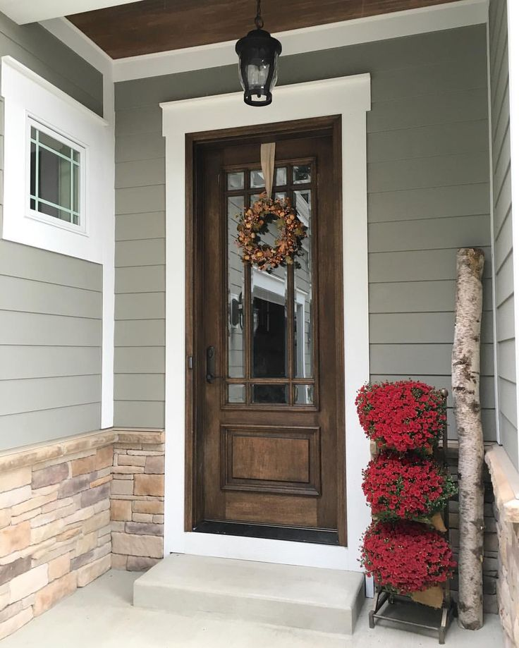 32 best farmhouse redefined images on pinterest country for Side entrance porch designs