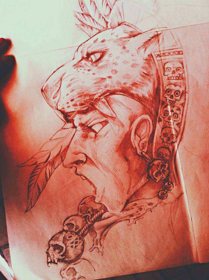 Guerrero jaguar mi arte prehisp nico pinterest for Jaguar warrior tattoo