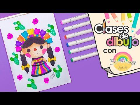 Como Dibujar Una Munequita Mexicana Clases De Dibujo Con Ricardo Youtube Clases De Dibujo Cuadernos De Dibujo Dibujo De Arco Iris