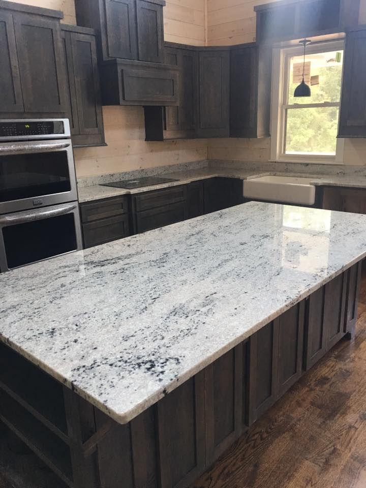 One Of My Favorites Colonial White Granite On A Darker Cabinet White Granite Countertops White Granite Countertops Kitchen Kitchen Remodel Countertops