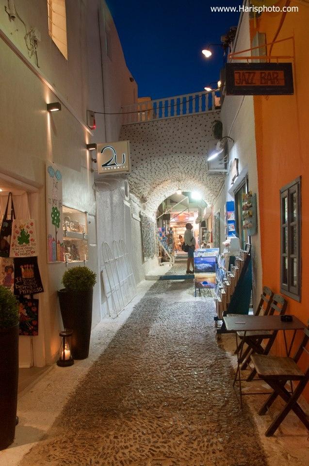 Night shopping in Fira, Santorini