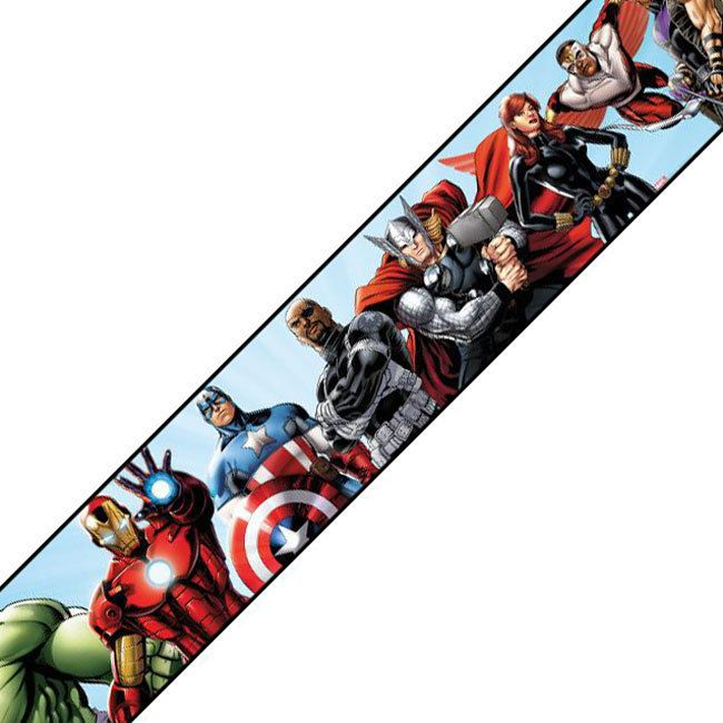 Marvel Avengers Prepasted Wall Border Iron Man Captain