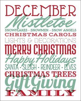 18 best holidaychristmassubwayart images on pinterest christmas subway art printable pronofoot35fo Image collections