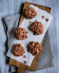 Milk Chocolate, Nut and Raisin Clusters | These crispy (feuilletine flakes), crunchy (corn flakes), nutty (toasted hazelnuts and pistachios) and chewy (golden raisins) mounds with just the right amount of salt are incredibly complex—and dangerously good.