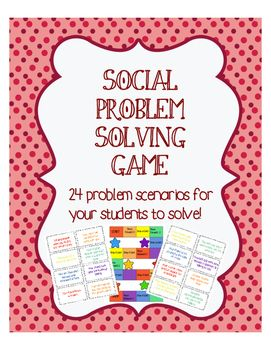 Problem Solving to game to help students learn to solve problems instead of just reacting to them! Helps with impulsivity and anger management.