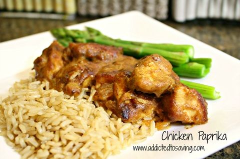 I love making Chicken Paprika.  It is an affordable, healthy meal that my husband and I love.  http://www.addictedtosaving.com/comfort-foods-chicken-paprika-recipe/