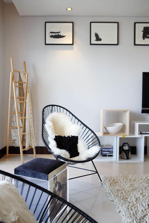 Intérieur scandinave et fauteuils Acapulco