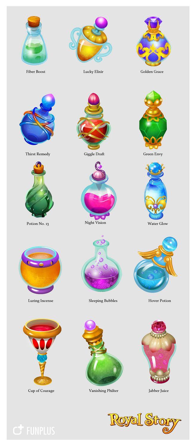 趣加 美术原画 瓶子@趣加美术采集到趣加美术原画(23图)_花瓣游戏