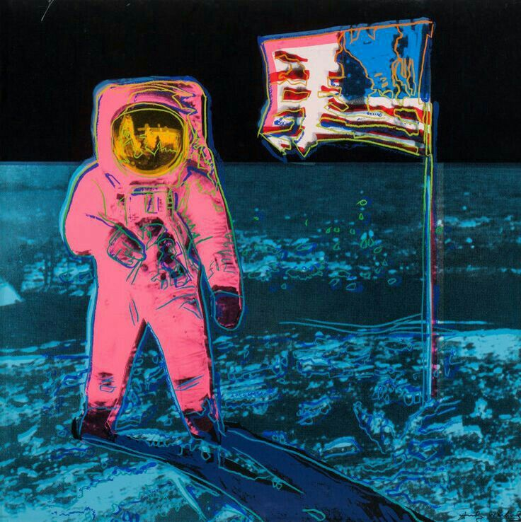 Andy Warhol ( Artist ), Moonwalk ; screenprint, 1987