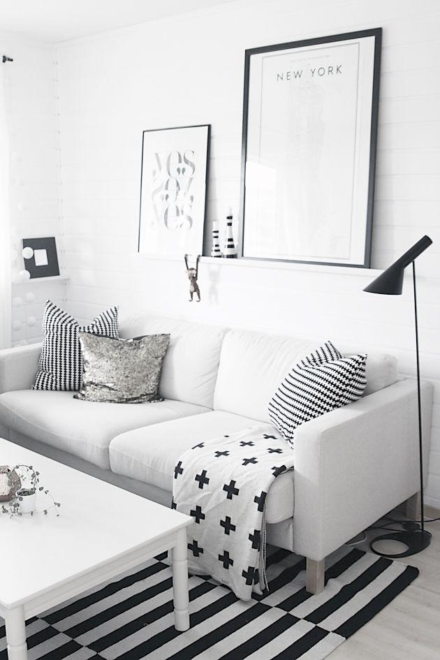 Via Noe Pa Hjertet | Black and White | Ikea Stockholm | AJ Floor Lamp | Pia Wallen