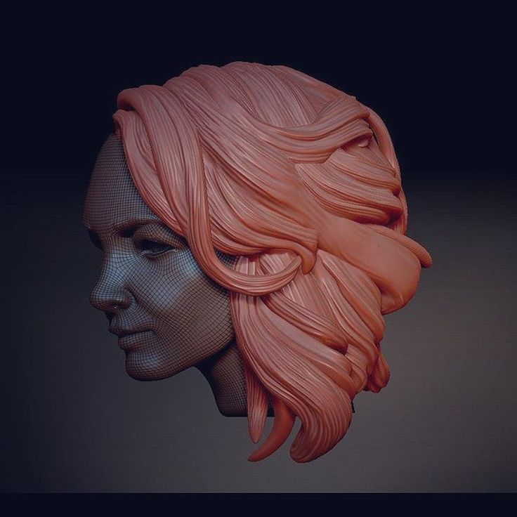 0 отметок «Нравится», 1 комментариев — мерзляков (@denismerzliakov) в Instagram: «#hair #model #3dprint #3d #cnc #3dprinting #hairstyle #work #figure #sculpture #modeling #design»