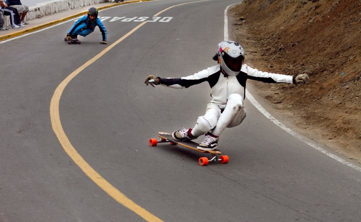 Downhill Longboarding   ^^my goal is to be able to do that or even compete one day.  it's just so fast LOL and I've only been skating since April. :(