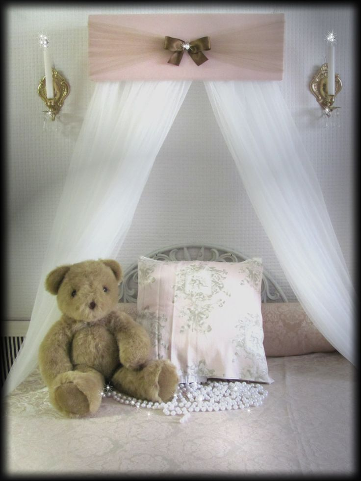 Bed Crib Canopy Mauve Rose Brown JoJo Padded Teester FREE Sheer Curtains SALE So Zoey Boutique Custom Design