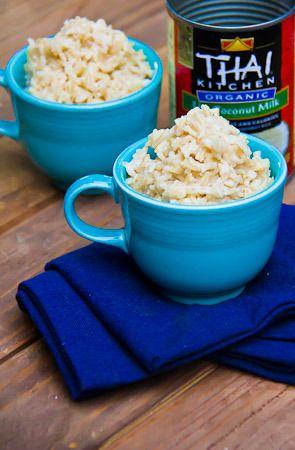 Coconut (brown) jasmine rice   Eats   Pinterest