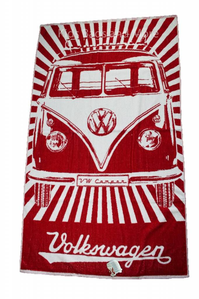 Volkswagen Strandlaken Rood