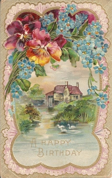 Vintage Birthday Postcard. I have a different card from this series. I'll have to look for this one.