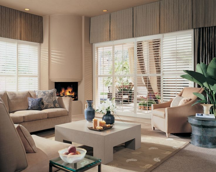 Plantation Shutters  Beautifully Paired with Custom Valances - 3 Blind Mice Window Coverings