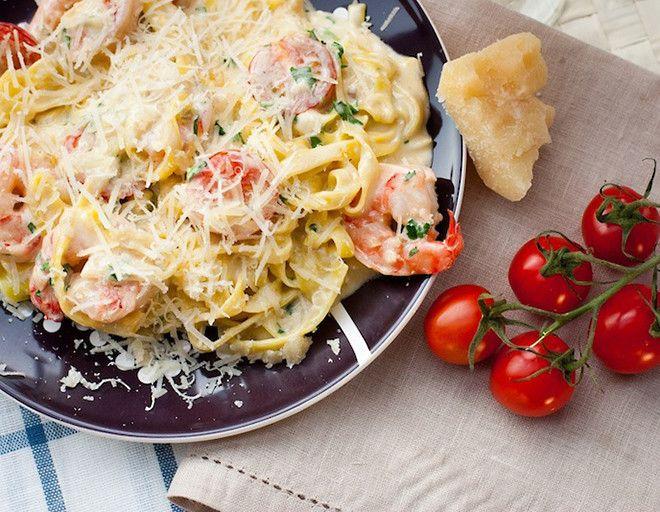 Паста с креветками и сливочным соусом от Александра Бельковича: рецепт с фото - Рецепты