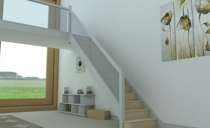 Best Painted Pine Staircase Glass Panels Square Newel Post S 400 x 300