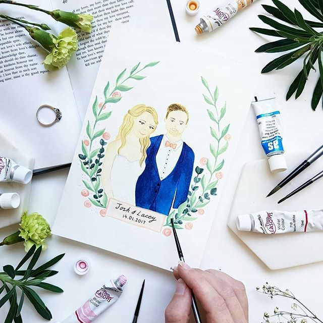 This little, lovely drawing by @hannahtyrelldesigns #drawings #lovelyday #lovelyart #weddingfun #weddinginvitation #weddingart #thebigday #watercolorpainting #handlettering #handdrawing #smallbiz #mycreativebiz #makersgonnamake #onmydesk #valentinesday #creativelifehappylife #handsandustle #tnchustler #creativeentrepeneur #girlboss #brandchat #creativepreneur #socialbusiness #designer