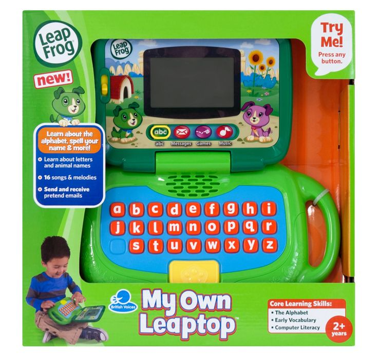 LEAPFROG MY OWN LEAPTOP - Planet Fun. Personalise your child's pretend computer play with the new pretend laptop for kids, the LeapFrog My Own Leaptop!